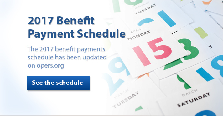 The 2017 benefit pay schedule has been updated on opers.org