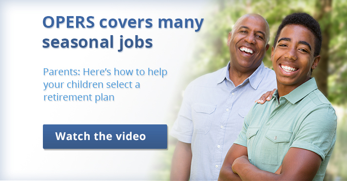 Video for parents assisting their children:  Learn how to advise your children with their OPERS retirement selection