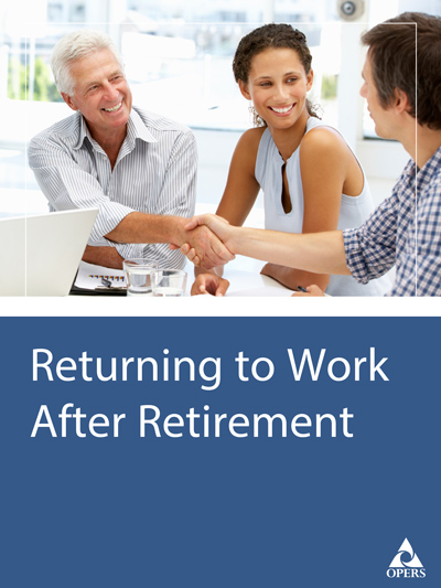 Returning to Work After Retirement cover