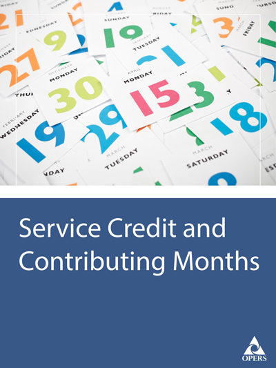 Service Credit & Contributing Months leaflet cover