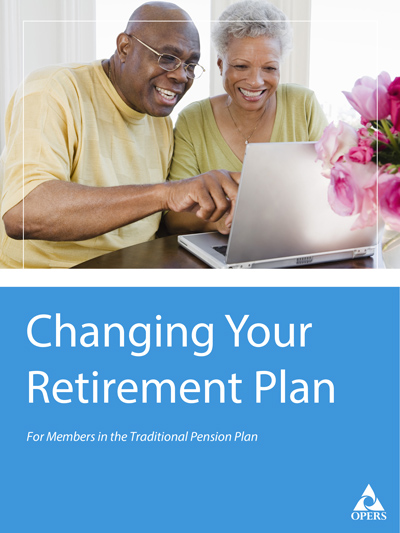 Changing Your Retirement Plan leaflet cover