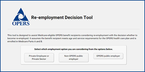 Click here to use the Re-employment Decision Tool